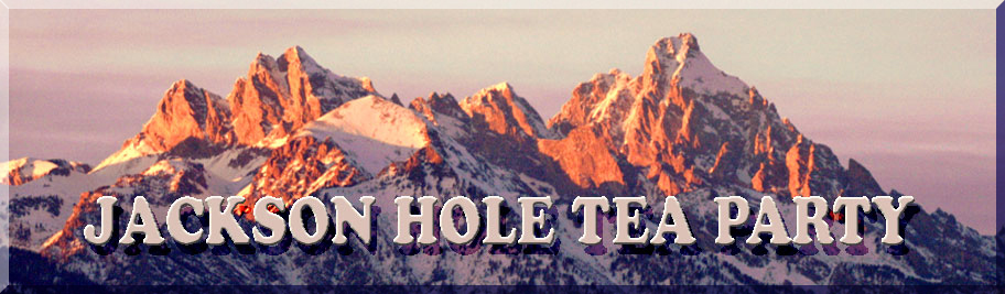 Jackson Hole Tea Party with Teton background